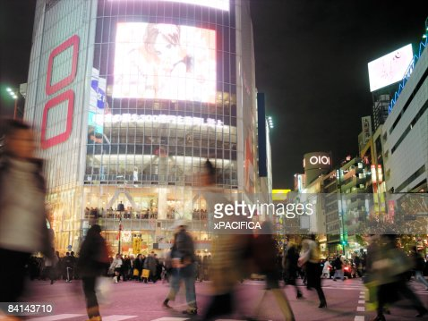 The busy Shibuya intersection in Tokyo Japan : Stockfoto