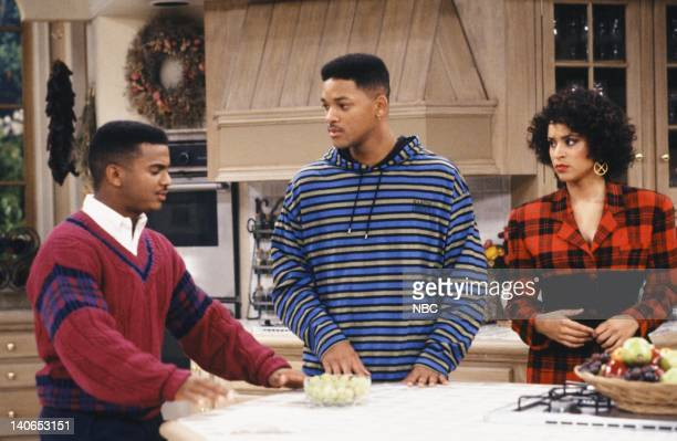 AIR 'The Butler Did It' Episode 11 Pictured Alfonso Ribeiro as Carlton Banks Will Smith as William 'Will' Smith Karyn Parsons as Hilary Banks Photo...