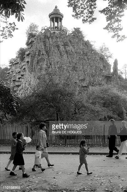The Buttes Chaumont park in Vincennes France in 1991