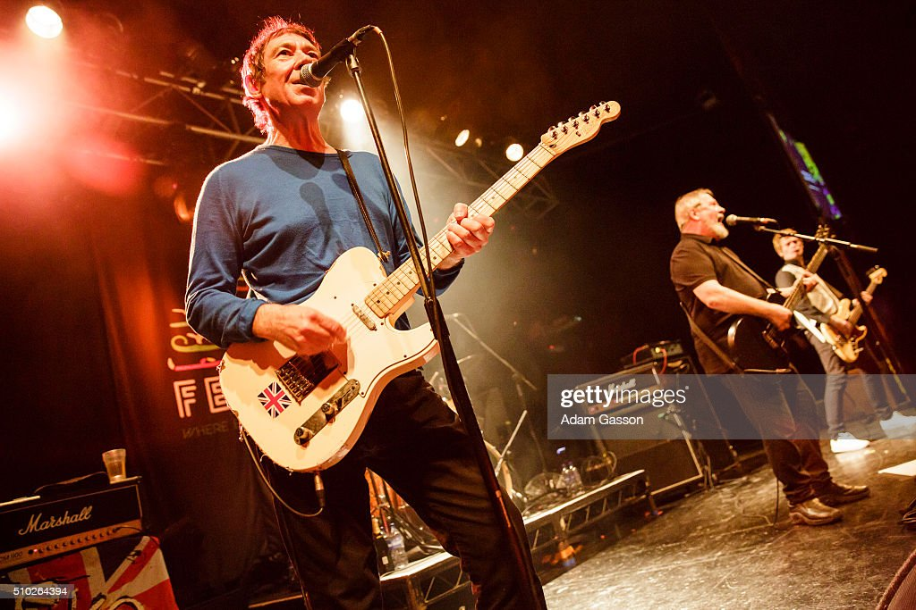 The Buzzcocks perform on the third day of the BBC 6 Music Festival at the O2 Academy on February 14, 2016 in Bristol, England.
