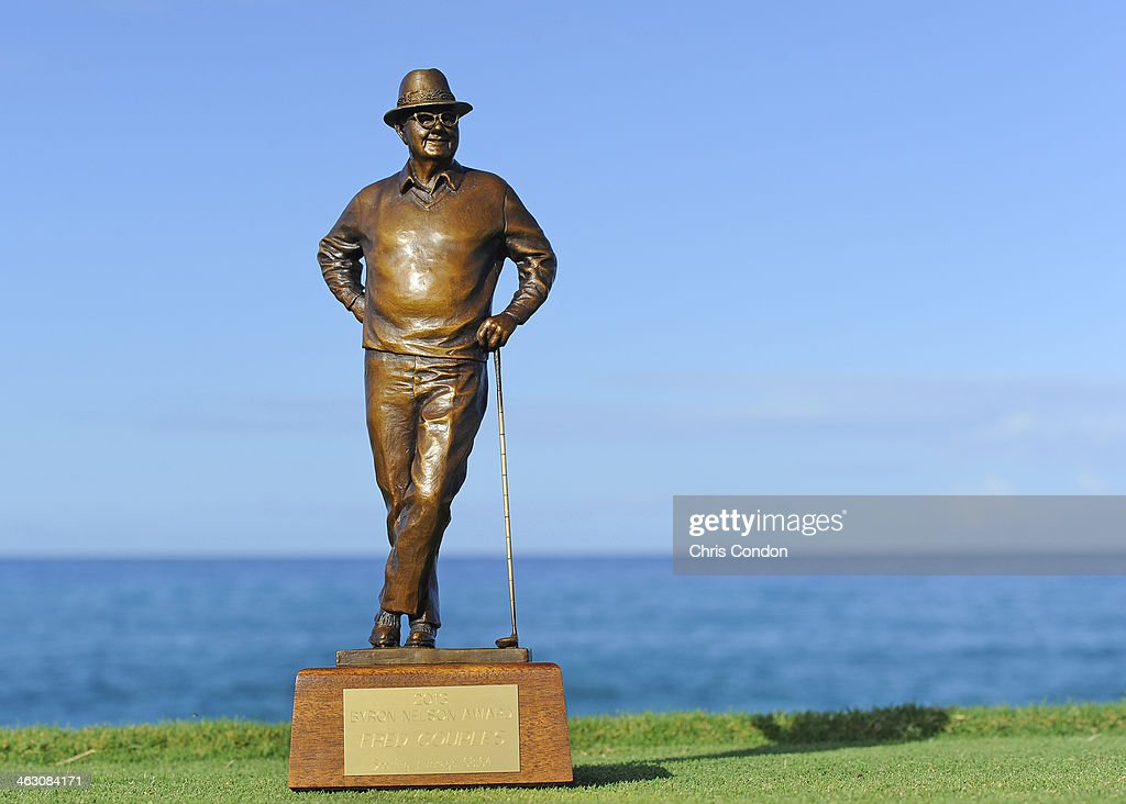 KA'UPULEHU-KONA, HI - JANUARY 16: The Byron Nelson award on the 17th tee during the Thursday Pro Am at the Mitsubishi Electric Championship at Hualalai Golf Club on January 16, 2014 in Ka'upulehu-Kona, Hawaii.