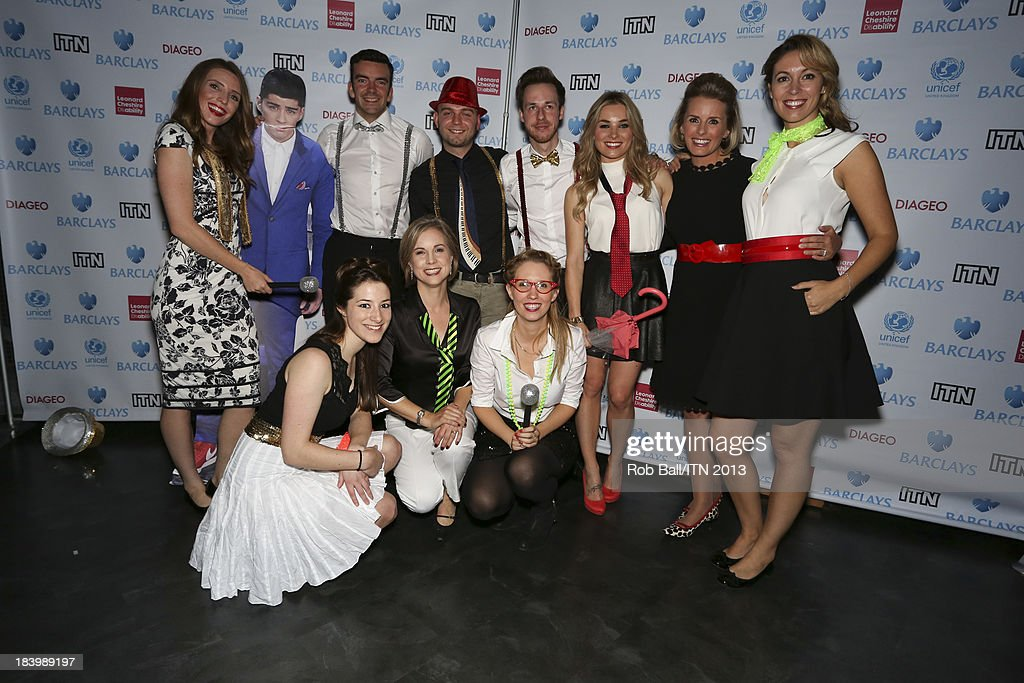The C5 News team including Cathy Jones Polly Whitehouse Emma Crosby and Sian Welby attend the annual Newsroom's Got Talent event to raise money for...