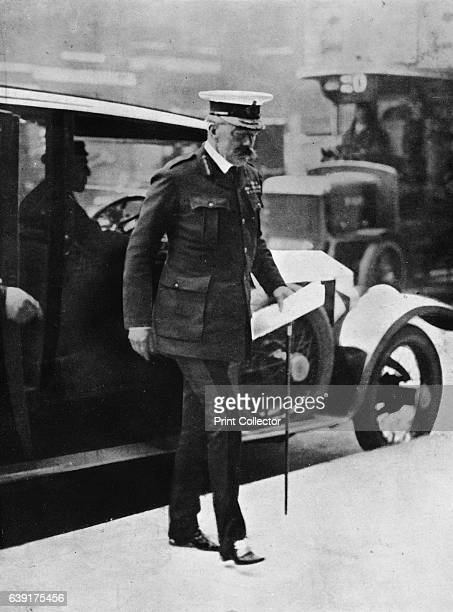 Lord Kitchener arriving at the War Office' 1915 From The Manchester Guardian History of the War Vol II 191415 [John Heywood Ltd London 1915] Artist...