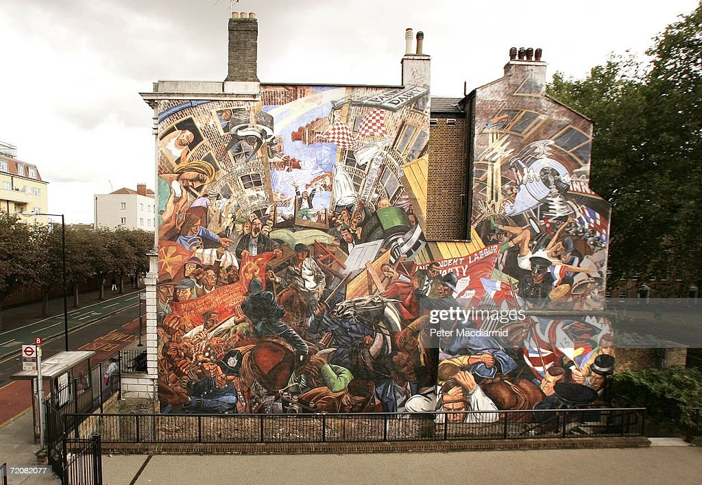 Street art around the world getty images for Cable street mural