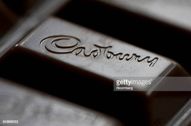 The Cadbury's logo is displayed on a bar of Cadbury's Dairy Milk chocolate in Hornchurch UK on Monday Sept 7 2009 Kraft Foods Inc the secondlargest...