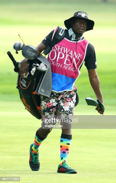 The Caddie of Jeff Winther of Denmark walks up the 2nd hole during Day One of The Tshwane Open at Pretoria Country Club on March 2 2017 in Pretoria...