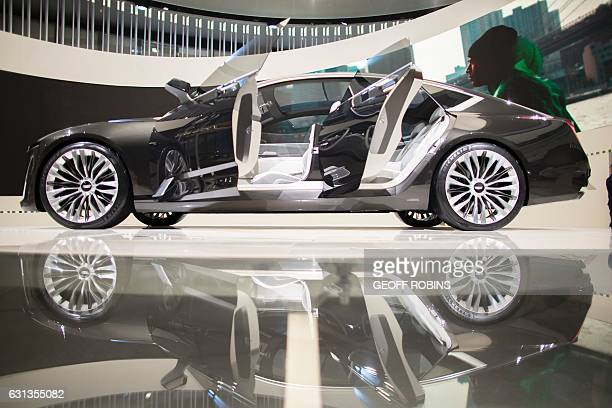 The Cadillac Escala concept cars sits on display at the 2017 North American International Auto Show in Detroit Michigan January 9 2017 / AFP / Geoff...
