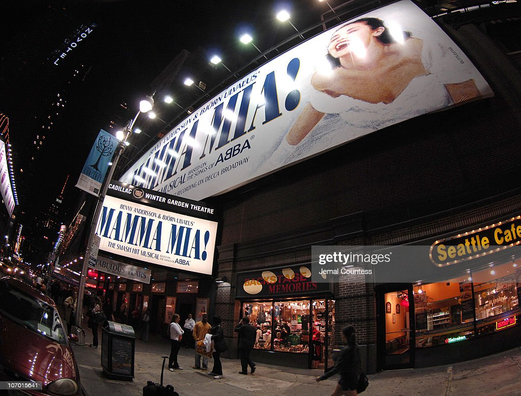 The Cadillac Winter Garden Theatre during 'Mamma Mia!' 5th Anniversary Celebratory Performance - Arrivals - October 18, 2006 in New York City, New York, United States.