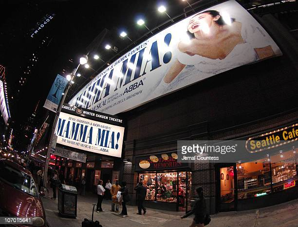 The Cadillac Winter Garden Theatre during 'Mamma Mia' 5th Anniversary Celebratory Performance Arrivals October 18 2006 in New York City New York...