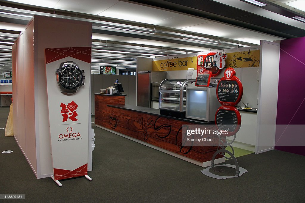 The Cafe and Bar is set on the first floor of the Photographer's working room of the Main Press Centre at Olympic Park on July 14 2012 in London...