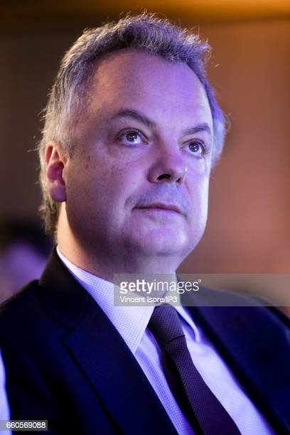 The Caisse des Depots CFO Franck Silvent holds a press conference to announce its 2016 annual results on March 30 2017 in Paris France The Caisse des...