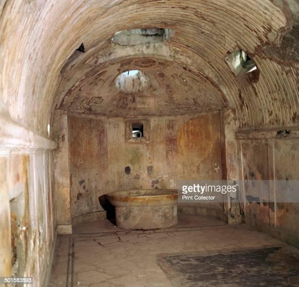 The calidarium of the Forum baths in Pompeii 1st century