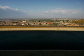 The California Aqueduct carries water from the Sierra Nevada Mountains to southern California as urgent calls for California residents to conserve...