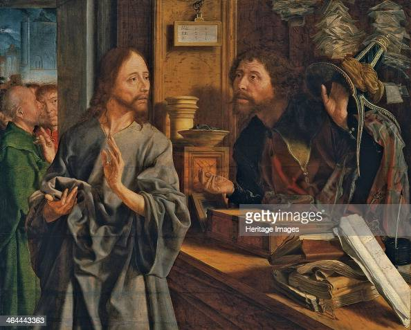 The Calling of Saint Matthew ca 1530 Found in the collection of the ThyssenBornemisza Collections