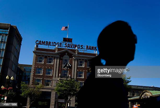 The Cambridge Savings Bank stands in Cambridge Massachusetts US on Monday Aug 6 2012 Harvard University an American private Ivy League research...