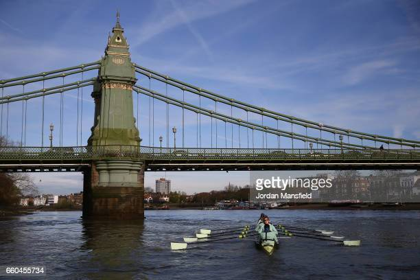 The Cambridge University Women's Boat Club in action during the Cancer Research Boat Races Tideway Week on March 30 2017 in London England