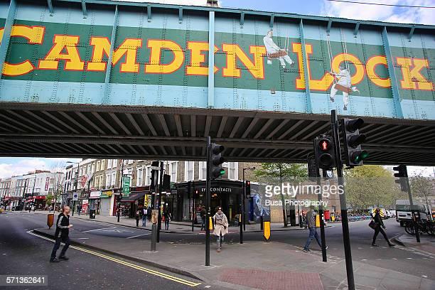 The Camden Lock Bridge, Camden Town, London
