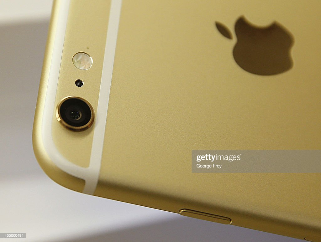 The camera and flash of an Apple iPhone 6 Plus gold is shown here at a Verizon store on September 18 2014 in Orem Utah Apples new iPhone 6's go on...