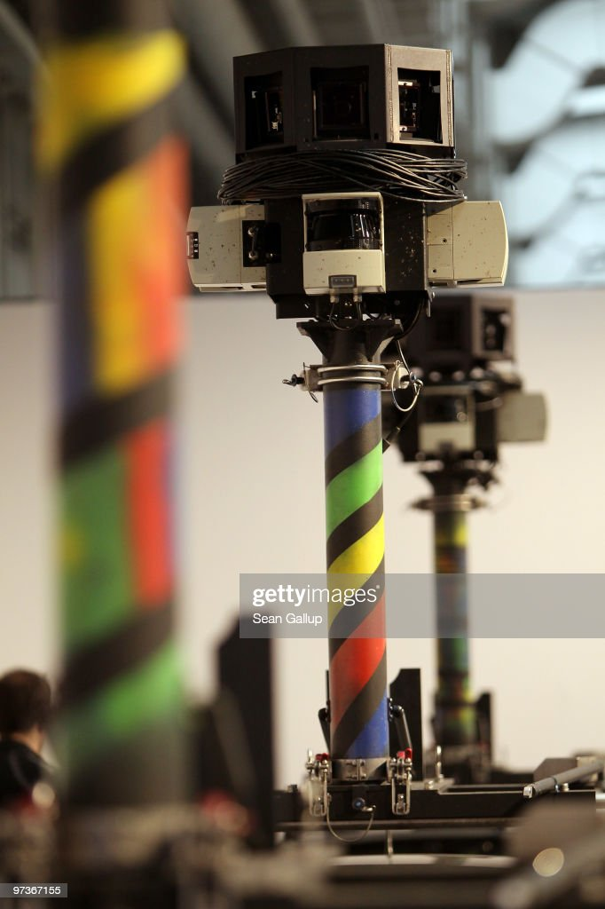 The cameras of German Google Street View cars loom over the cars at the Google stand at the CeBIT Technology Fair on March 2, 2010 in Hannover, Germany. Google's Street View project has raised cotroversy from people across Europe worried about infringement of their privacy. CeBIT will be open to the public from March 2 through March 6.