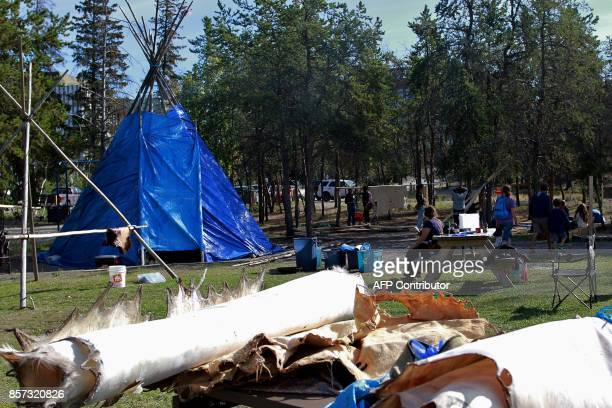 The camp open to the public consists of three Fort McPherson tents and two tipis at Somba Ke Park near Frame lake and a playground for kids at the...