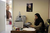 The campaign headquarters of popular former national police chief Mohammad Baqer Qalibaf a candidate in the Iranian Presidential elections is a hive...