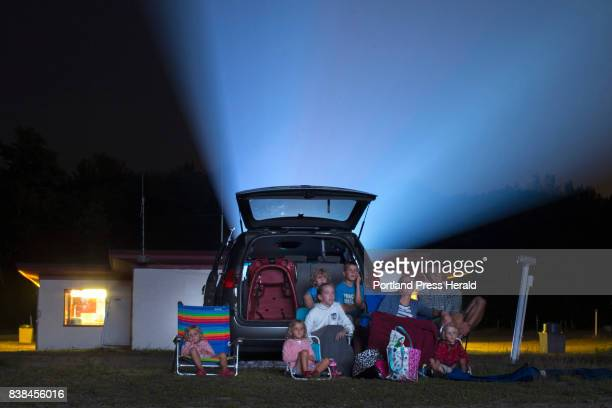 The Campbell family watches 'Despicable Me 3' at Prides Corner DriveIn theater on Tuesday night The Westbrook landmark reopened Friday after being...
