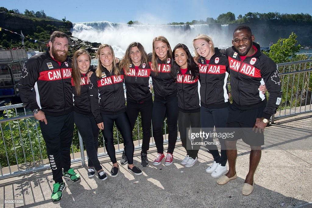 The Canadian Olympic wrestling team that will be heading to Rio de Janeiro was announced in Niagara Falls, Ontario. The members include Korey Jarvis(left), Dorothy Yeats, Danielle Lappage, Michelle Fazzari, Erica Wiebe, Jasmine Mian, Jillian Gallays and Haislan Garcia.