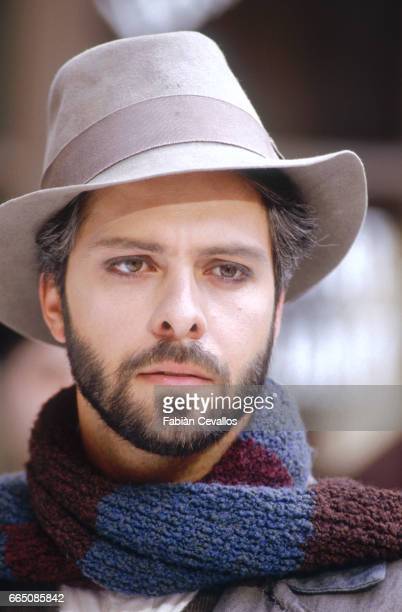 The Canadian opera singer Gino Quilico during the shooting of the musical La Boheme based on Italian composer Giacomo Puccini's 1896 opera