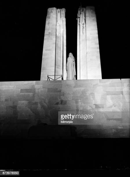 The Canadian War Memorial at Vimy Ridge seen here the night following its dedication The memorial was designed by Walter Seymour Allward 26th July...