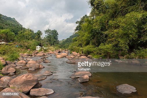 The canal at Bo Kluea district , Nan Thailand. : Stock Photo
