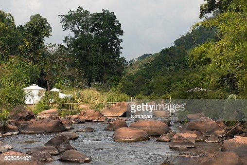 The canal at Bo Kluea district , Nan Thailand. : Stock Photo
