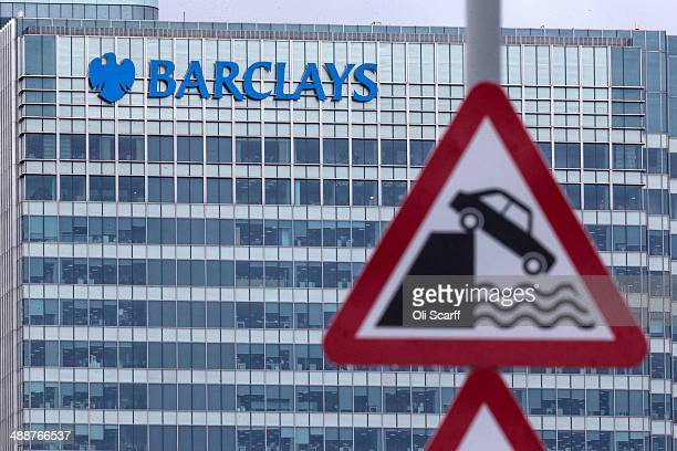 The Canary Wharf headquarters of Barclays Bank on May 8 2014 in London England Barclays announced yesterday that they will cut 14000 jobs this year...