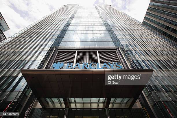 The Canary Wharf headquarters of Barclays Bank who have been fined 290 million GBP for manipulating the Libor interbank lending rate on June 28 2012...