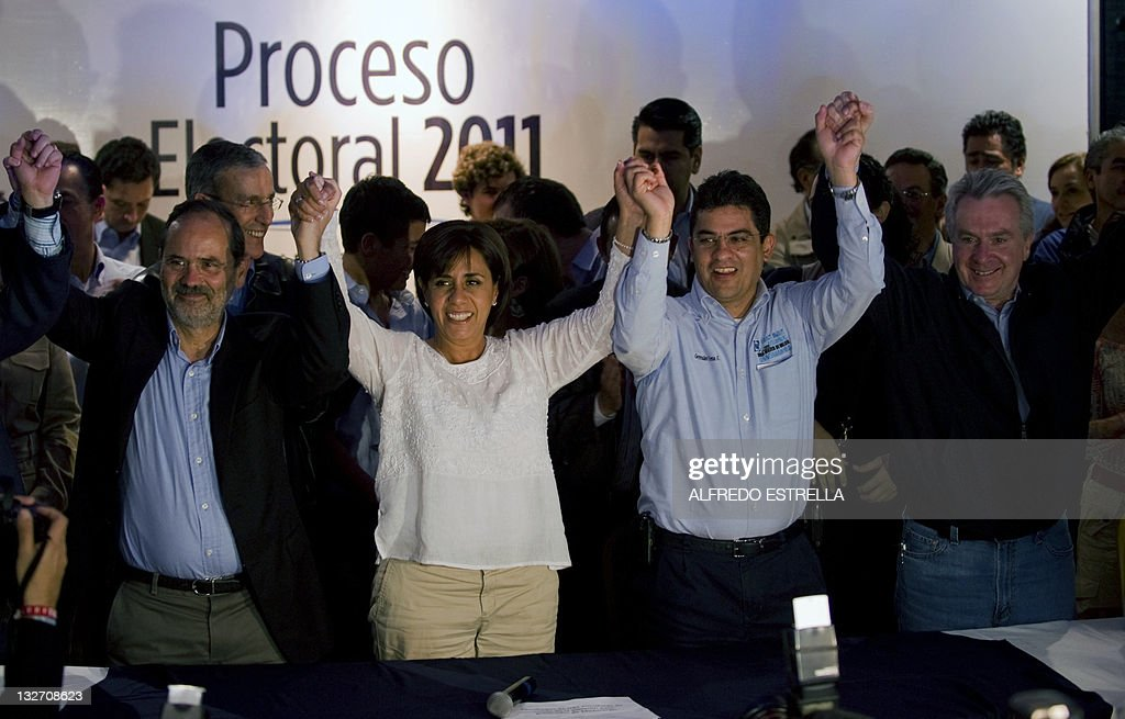 The candidate for governor of Mexico's state of Michoacan and sister of Mexican President Felipe Calderon Luisa Maria Calderon of the National Action...