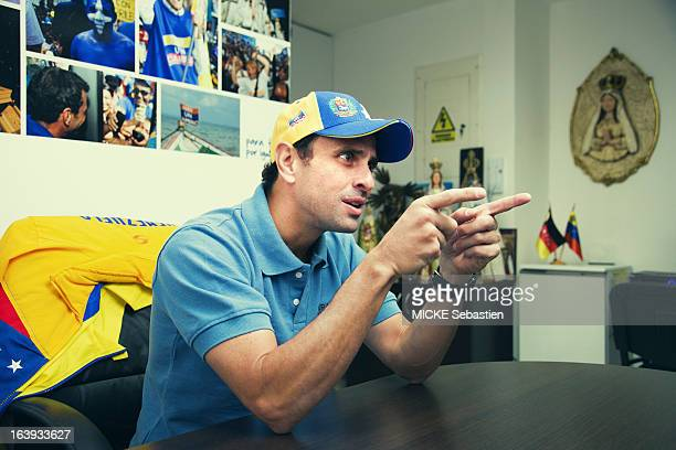 the candidate for presidential elections of Venezuela Henrique Capriles in his office on March 07 2013 in Caracas Venezuela