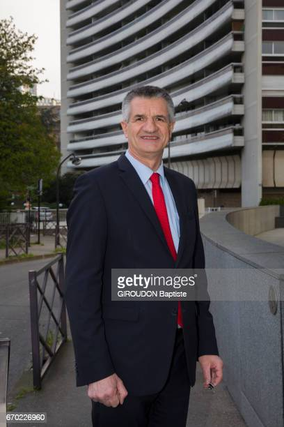 the candidate of the presidential election 2017 Jean Lassalle on april 05 2017 in Paris France