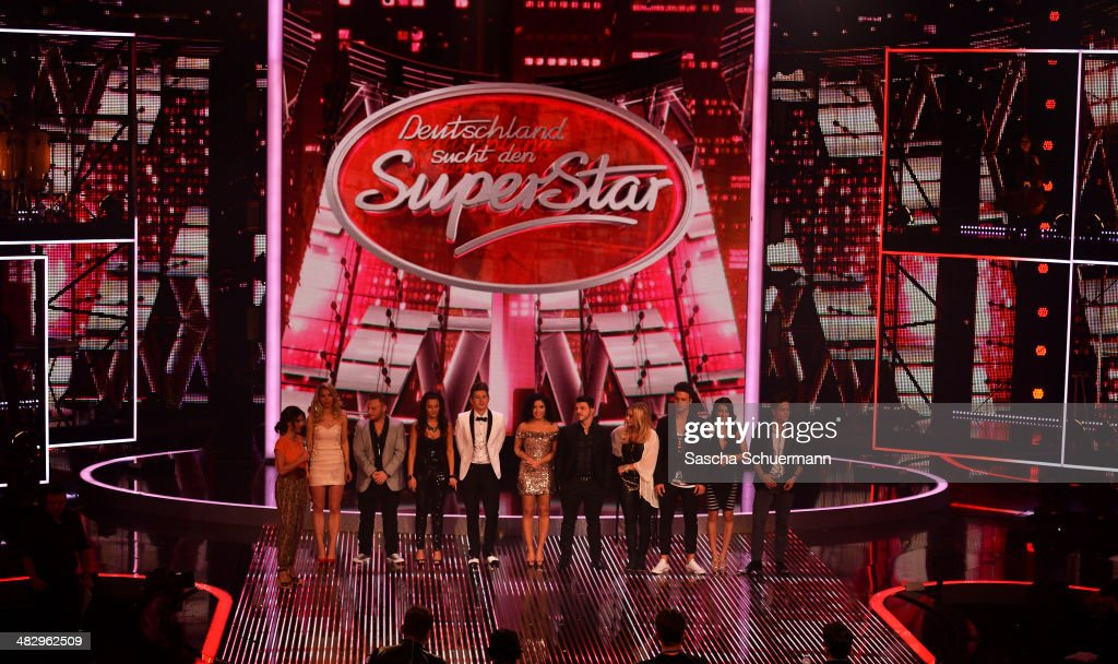 The candidates attend the rehearsal for the 2nd 'Deutschland sucht den Superstar' (DSDS) show at Coloneum on April 5, 2014 in Cologne, Germany.