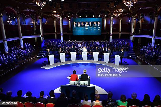The candidates for the rightwing Les Republicains party primaries ahead of the 2017 presidential election Bordeaux's Mayor Alain Juppe former French...