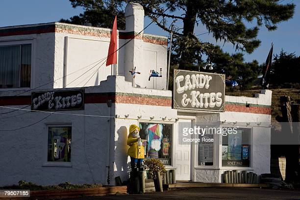 The Candy Kites store in the fishing village is viewed in this 2008 Bodega Bay Sonoma County California early morning winter landscape photo