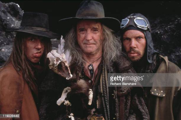 The cannibalistic Angel family from the dystopian scifi film 'Judge Dredd' 1995 From left to right Ewen Bremner Scott Wilson and Phil Smeeton as...