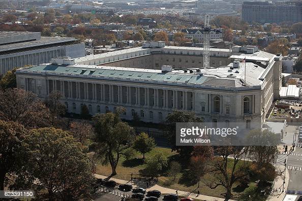 The Cannon House Office Building can be seen from the recently restored US Capitol dome November 15 2016 in Washington DC The Architect of the...