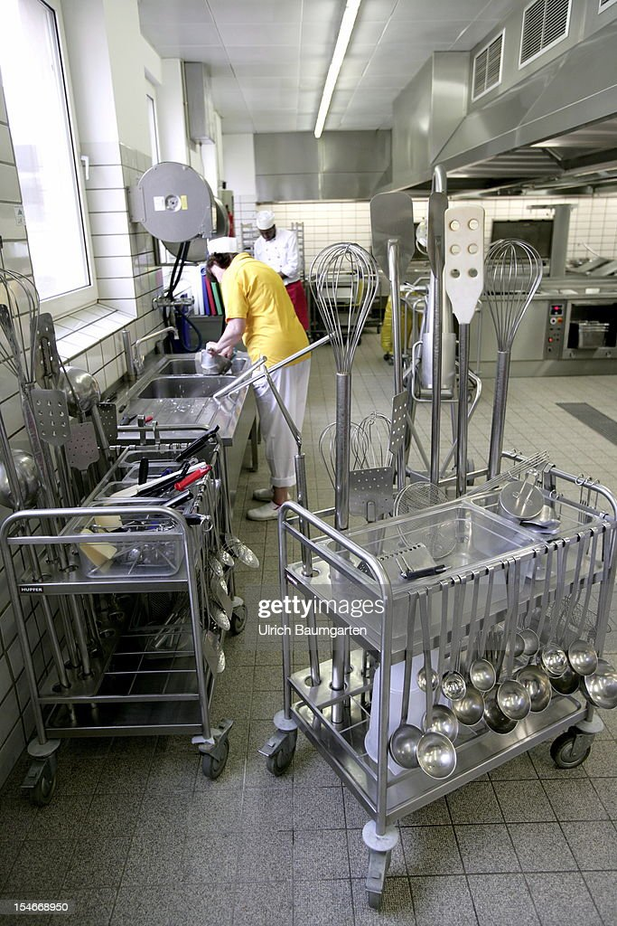 The canteen kitchen of the Friedrich Wilhelms University Bonn on October 16, 2012 in Bonn, Germany