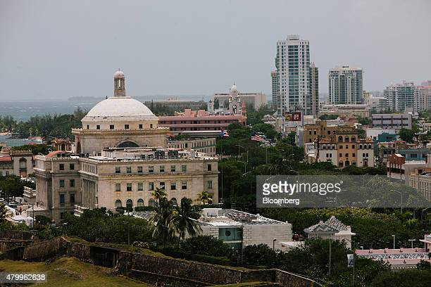 The Capitol Building left stands among buildings in the Old City of San Juan Puerto Rico on Wednesday July 8 2015 A growing number of Republicans in...