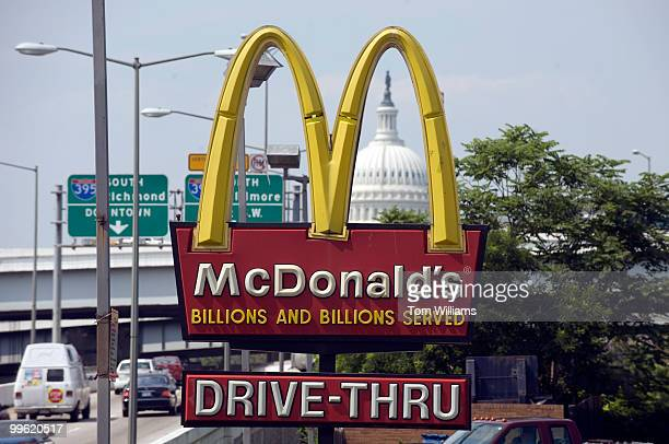 The Capitol Dome is photographed through a McDonald's sign on South Capitol Street SE June 08 2009