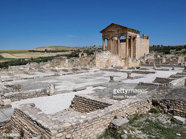 The capitol is a Roman temple from the 2nd century CE principally dedicated to Rome's protective triad Jupiter Optimus Maximus Juno Regina et Minerva...