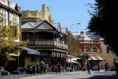 The 'Cappuccino Strip' is shown in this streetscape of the historical Western Australian port city of Fremantle near Perth on April 30 2009 Fremantle...