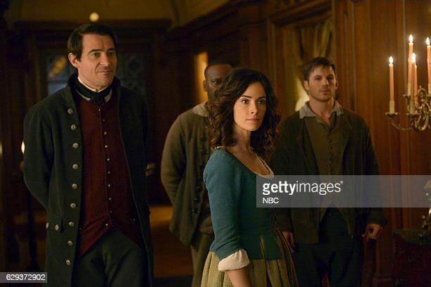 TIMELESS 'The Capture of Benedict Arnold' Episode 109 Pictured Goran Visnjic as Garcia Flynn Abigail Spencer as Lucy Preston Matt Lanter as Wyatt...