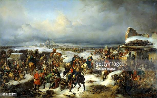 The capture of the Prussian fortress of Kolberg on 16th December 1761' 1852 Kotzebue Alexander von Found in the collection of the State Central...