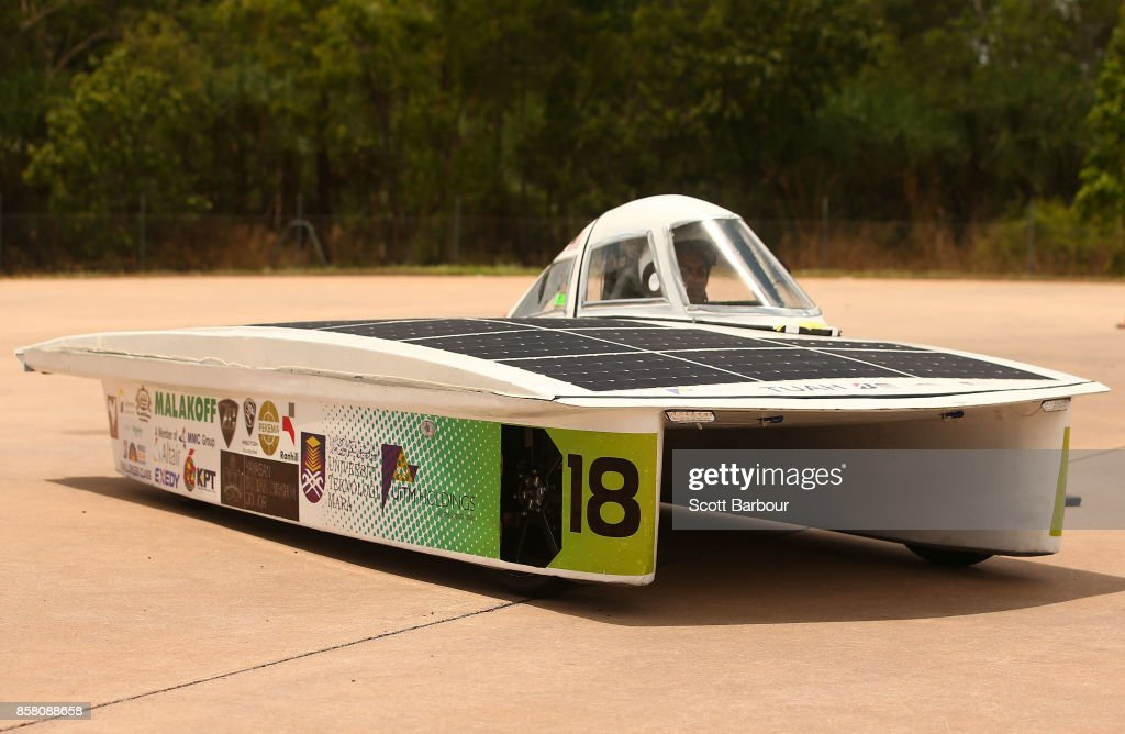 TUAH, the car from Malaysia's UiTM EcoPhoton Solar Racing Team and MARA University of Technology conducts figure 8 testing at the Hidden Valley Motor Sport Complex before competing in the Challenger class ahead of the 2017 Bridgestone World Solar Challenge on October 6, 2017 in Darwin, Australia. Teams from across the globe are competing in the 2017 World Solar Challenge - a 3000 km solar-powered vehicle race through the Australian Outback between Darwin and Adelaide. The race attracts teams from around the world, most of which are fielded by universities or corporations although some are fielded by high schools. The race has a 30-year history spanning thirteen races, with the inaugural event taking place in 1987. The race begins on October 8th with the first car expected to cross the finish line on October 11th.