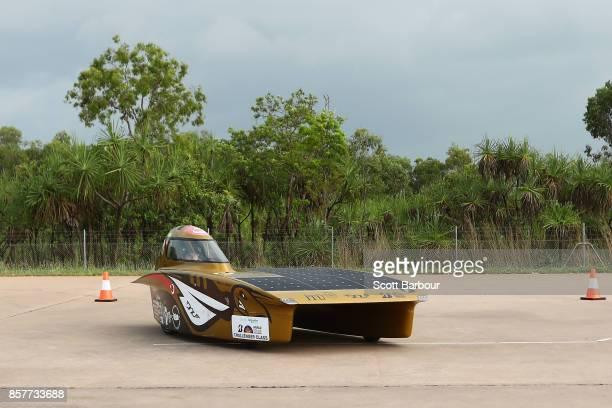 W ISTANBUL the car from Turkey's ITU Solar Car Team conducts figure 8 testing at the Hidden Valley Motor Sport Complex before competing in the...